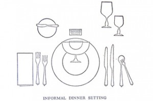 Dinner set. Image y Crossett Library Bennington College